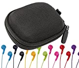 DURAGADGET Hard EVA Protective Storage Case / Bag for Headphones & Earphones in Black For JVC HA-F150 GUMY In-Ear Headphones (HA-F150-AN-E, HA-F150-B-E, HA-F150-GN-E, HA-F150-PN-E, HA-F150-R-E, HA-F150-VN-E)