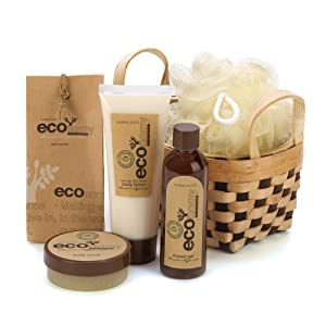 Amazon.com - Eco Bath Body Gift Basket Set Lotion Get Scrub Crystals