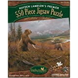 Reflective Art Grizzly Remains Jigsaw Puzzle, 550-Piece