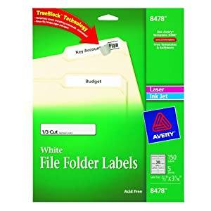avery file folder labels for laser and inkjet printers x inches white. Black Bedroom Furniture Sets. Home Design Ideas