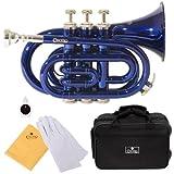Cecilio PT-280BL Trompette de poche SiB Bleu