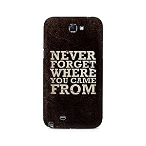 Mobicture Never Forget Premium Printed Case For Samsung Note 2