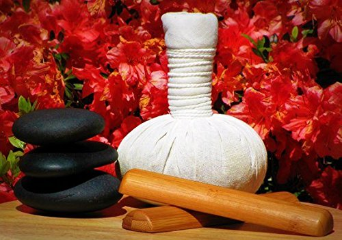 1X Thai Herbal Ball Compress (Luk Pra Kob) Product Of Thailand For Steamer Hot Massage (Body) Relaxing Natural Herbal, Relieves Muscular Aches And Pains Use In Home Or Spa Best Buy Herbal Ball In Thailand 200G. front-449327