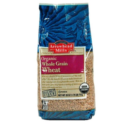 Arrowhead Mills Organic Whole Grain Wheat, 28-Ounce Packages (Pack of 6)