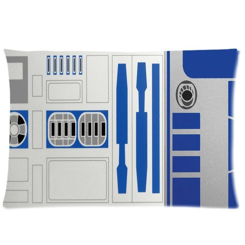 R2D2 Star War Robot Custom Pillowcase Cover Two Side Picture Size 16X24 Inch