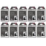 チェキ フィルム 100枚 FUJIFILM インスタントカメラ チェキ用フィルム (モノクロ)100枚セット(10枚×10パック) モノクローム INSTAX MINI MONOCHROME WW 1