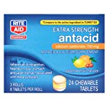 Rite Aid Antacid & Calcium Supplement, 24 chewable tablets