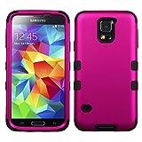 Product B00JJICC7S - Product title MyBat Samsung Galaxy S5 TUFF Hybrid Phone Protector Cover - Retail Packaging - Titanium Solid Hot Pink/Black