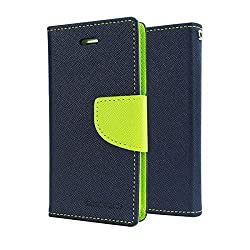 Pikimania Wallet Style Flip Case Cover For Xiaomi Redmi Note (Blue)