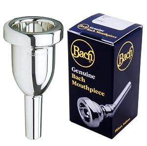 Bach K3411HG Megatone Large Shank Tenor Trombone Mouthpiece, Silver Plated, 1-1/2 G 27.00mm