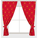 Manchester United FC Official Ready Made Repeat Crest Curtains (One Pair) (Red)