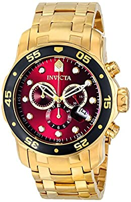 Invicta Men's 80066 Pro Diver Analog Display Swiss Quartz Gold Watch
