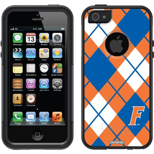 Great Sale University of Florida - Argyle design on a Black OtterBox® Commuter Series® Case for iPhone 5s / 5