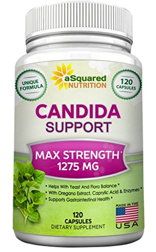 aSquared Nutrition Candida Support Cleanse Supplement - Pure Natural Candida Yeast Infection Support Detox Pills with Probiotics, Herbs & Antifungals - 120 Capsules (Oxy Baby Spray compare prices)