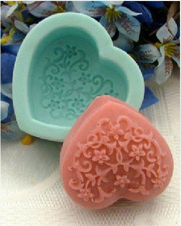 Decorative Pattern Decoration Heart 0226 Craft Art Silicone Soap Mold Craft Molds Diy