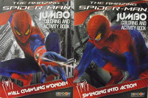 Marvel The Amazing Spiderman Coloring And Activity 2 Book Set 64 Pg Each. Heat Sealed In Copyrighted Labeled Sleeve. Made In The Usa Bendon Publishing Childrens Books.