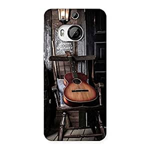 Delighted Old Guitar On Chair Back Case Cover for HTC One M9 Plus