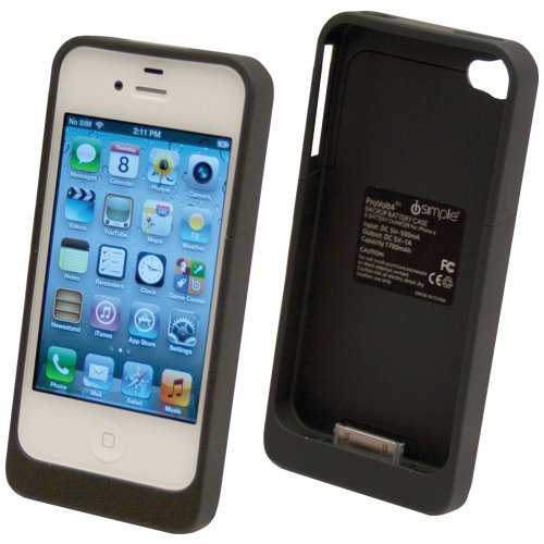 iSimple IS717 Iphone, R 4 Backup Battery Case