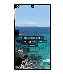 printtech Cool Quotes Life Back Case Cover for Apple iPad Air 2