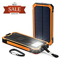 15000mAh Solar Panel Chargers by Coolbuy...