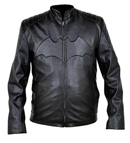 Classyak uomo Batman-Giacca in pelle Faux Black Medium