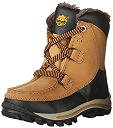 Timberland Boy\'s Chillberg Premium WP Insulated Grade School Wheat Nubuck 3.5 M
