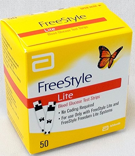 Freestyle Lite Gluco Test Strp Size: 50