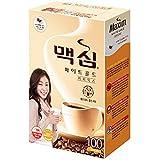 Maxim White Gold Instant Coffee - 100pks (Color: White, Beige, Tamaño: 100 Sticks x 1 Box)