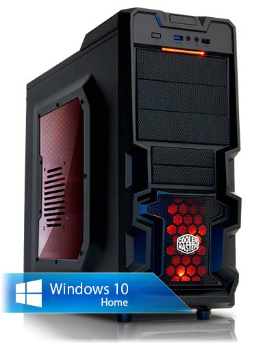 Ankermann-PC Fæ-HAWK, AMD FX-6300 6x 3,5 GHz Turbo: 4.10GHz, Gigabyte Radeon R7 370 WF 2X OC, 2GB GDDR5, 8 GB DDR3 RAM, 2000 GB Disque Dur, Microsoft Windows 10 Home 64Bit, Card Reader, EAN 4260370250856