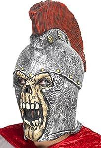 Smiffy's Roman Soldier Skeleton Mask with Helmet Latex Overhead