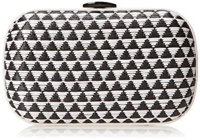 Loeffler Randall Accessories MINAUD-NRF Evening Bag,Black/White,One Size