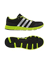 Men's Adidas Performance Breeze 101 M Series Running Shoes, Black/Neon green