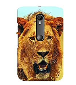 printtech Lion Back Case Cover for Motorola Moto G3::Motorola Moto G (3rd Gen)