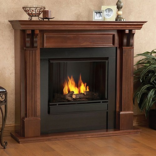Real Flame Ashley Indoor Gel Fireplace - Mahogany (Real Flame Fireplace compare prices)