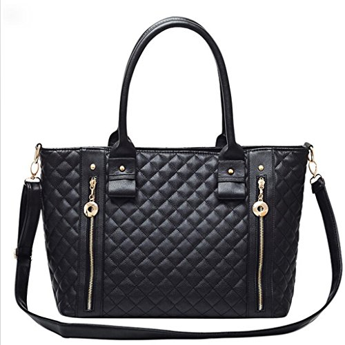 Black Purse Fashion Pu Leather Lady Handbag For Women Girls