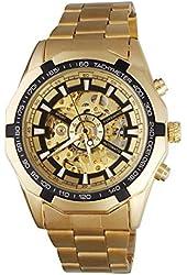 Fanmis Best Selling Golden Stainless Steel Russian Skeleton Luxury Men's Automatic Mechancial Wrist Watch