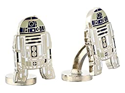 Cufflinks Inc. Men\'s Star Wars R2D2 Cufflinks Blue Cuff Links One Size