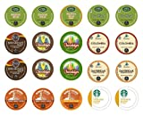 Crazy Cups Light Roast Deluxe Sampler, Single-cup coffee pack sampler for Keurig Single serve cup Brewers (Pack of 20)