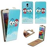 BLU VIVO 5 Smartphone Klappbare Flip Tasche / Schutzhülle