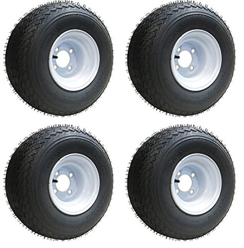 Slasher 18x8.50-8 GTX OEM Golf Cart Wheels and Golf Cart Tires Combo - Set of 4 (Golf Cart Supplies compare prices)