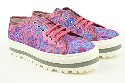 Frau scarpe donna sneakers con piattaforma 37J4 fuxia TG 36