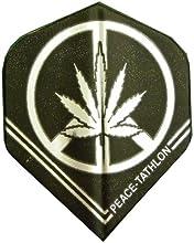 25 Sets 3439 AmeriThon BlackSilver PeacePot Sign Dart Flights