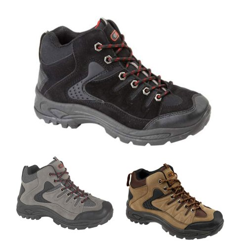IMPRESSIONZ-Mens Hiking Boots Walking Ankle High Top Trail Trekking Boots Traners Shoes Size 7-12