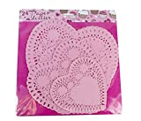 Pack of 24 Pink Paper Doilies in 3 Sizes for Crafting & Parties