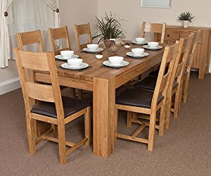 Solid Oak 'Washington' Dining/Kitchen Table. True, natural ...