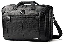 Samsonite Classic Business Cases, Three Gusset Laptop Briefcase in Black