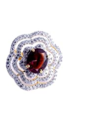 Nakit Exclusive CZ Adjustable Cocktail Ring -683