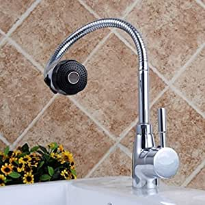 high quality kitchen faucet amazon com high end nickel brushed rotatable high quality kitchen