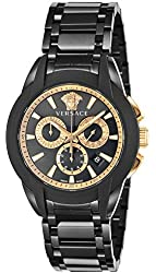 [Versace] VERSACE watch character Chronograph Black Dial Stainless steel (gunmetal PVD) chronograph M8C60D009S060 Men's parallel import goods]