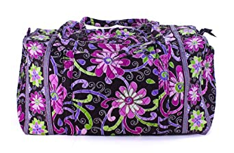Vera Bradley Large Duffel Bag in Purple Punch